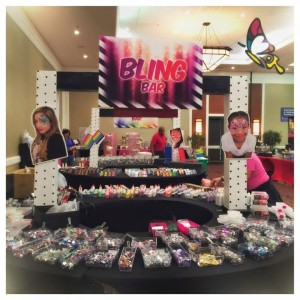 Bling Bar where you could fill baggies with an assortment of different bling